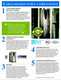5 Great Reasons to Buy a York Furnace
