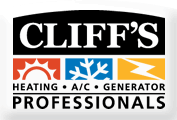 Cliff's Heating, A/C & Generator Professionals